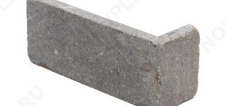 """Угловой камень """"Кирпич"""" доломит бурый """"серо-малиновый"""" - 60х(50+150)х20 мм, галтованный, пиленый с 6 сторон"""