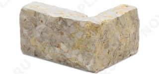 """Угловые камни """"Полоски"""" (Шуба) »  Пиленый с 5 сторон, h-40мм, L-Погон"""