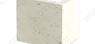 """Угловые элементы """"Плитка из камня"""" »  Пиленый с 6 сторон, h-200мм, L-Погон"""