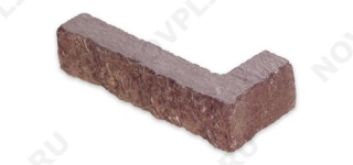 """Угловой камень """"Полоска"""" лемезит бордовый - 20хПогон мм, шуба, пиленый с 5 сторон"""