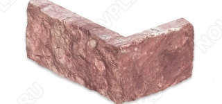 """Угловой камень """"Полоска"""" доломит малиновый с розовым - 50хПогон мм, шуба, пиленый с 5 сторон"""