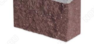"""Угловой камень """"Полоска"""" лемезит бордовый - 60хПогон мм, шуба, пиленый с 5 сторон"""