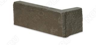 """Угловой камень """"Полоска"""" песчаник серо-зеленый - 40хПогон мм, шуба, пиленый с 5 сторон"""
