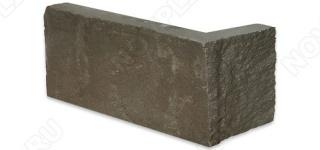 """Угловой камень """"Полоска"""" песчаник серо-зеленый - 50хПогон мм, шуба, пиленый с 5 сторон"""