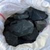 Камни для бани и сауны порфирит угольно-чёрный - необработанный