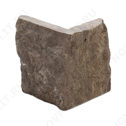 """Угловые камни """"Стрелки"""" (Шуба) »  Пиленый с 3 сторон, h-90мм, L-Погон"""