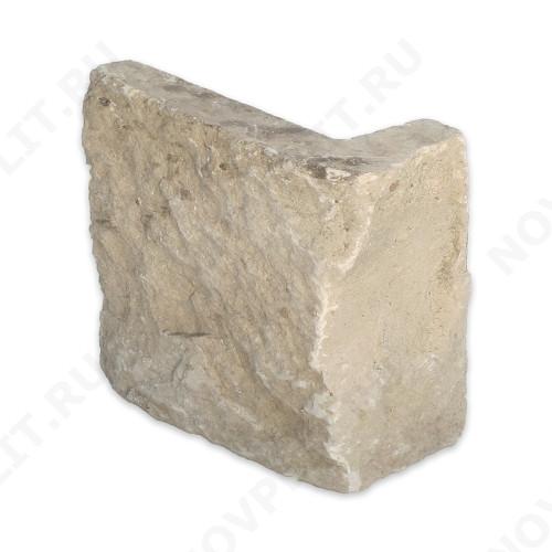 """Угловые камни """"Плитка"""" (Шуба) »  Пиленый с 5 сторон, h-100мм, L-Погон"""
