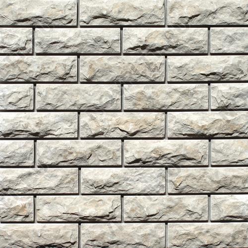 """Камень под кирпич доломит бело серый """"изборский"""" - 60х200 мм, со сколом, пиленый с 5 сторон"""