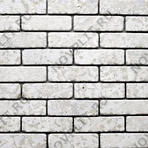 """Камень под кирпич доломит бело серый """"изборский"""" - 60х200х20 мм, галтованный, пиленый с 6 сторон"""