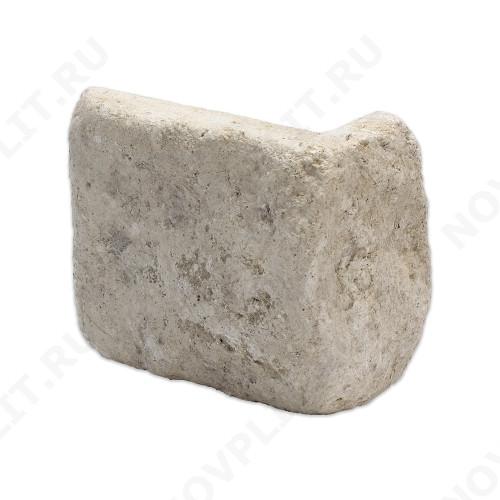 """Угловой камень """"Плитка"""" доломит бело серый """"изборский"""" - 100хПогонх20 мм, шуба, галтованный, пиленый с 5 сторон"""