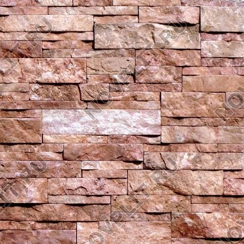 """Камень лапша """"Полоска"""" доломит малиновый с розовым - 40хПогон мм, шуба, пиленый с 5 сторон"""