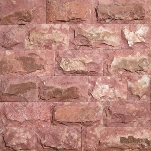 """Плитка """"Скала"""" доломит малиновый с розовым - 200хПогон мм, со сколом, пиленый с 5 сторон"""