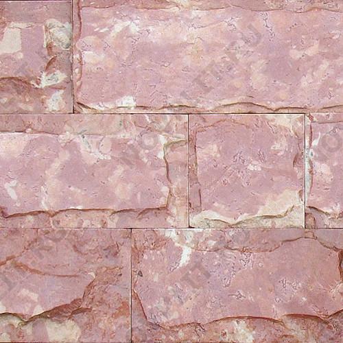 """Плитка """"Скала пиленая"""" доломит малиновый с розовым - 200хПогон мм, со сколом, пиленая, пиленый с 6 сторон"""