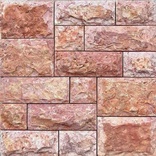 Римская кладка «Микс» доломит малиновый с розовым - со сколом, пиленый с 5 сторон