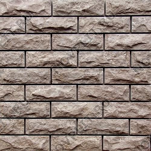 Камень под кирпич (Скала) »  Пиленый с 5 сторон, h-6 см (60 мм), L-20 см (200 мм)