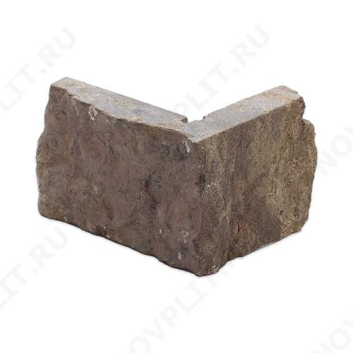 """Угловой камень """"Стрелки"""" доломит бурый """"серо-малиновый"""" - 60хПогон мм, шуба, пиленый с 3 сторон"""