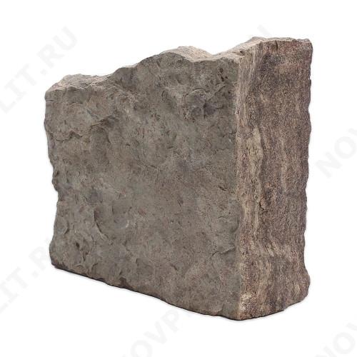 """Угловой камень """"Плитняк"""" доломит бурый """"серо-малиновый"""" - Погонх30 мм, шуба, пиленый с 1 стороны"""