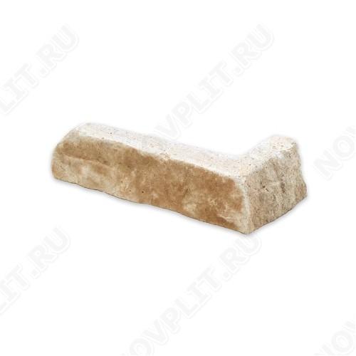 """Угловой камень """"Стрелки"""" доломит бежевый - 30хПогон мм, шуба, пиленый с 3 сторон"""