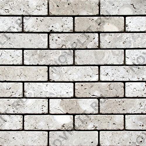 """Камень под кирпич доломит светло-серый """"мустанг"""" - 60х200х15 мм, галтованный, пиленый с 6 сторон"""