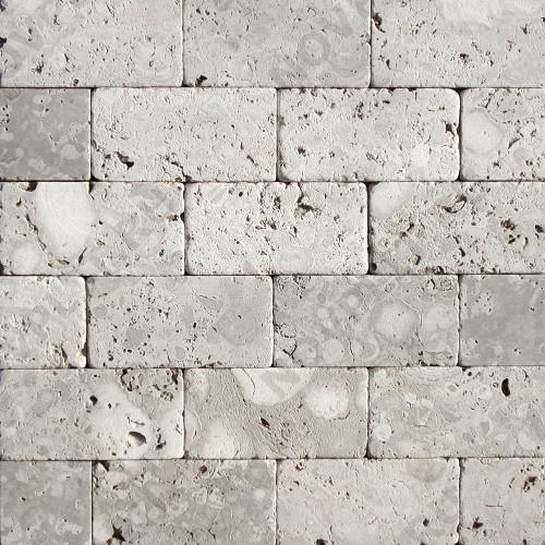 """Камень для пола """"Кирпич"""" доломит светло-серый """"мустанг"""" - 200х100х20 мм, галтованный, пиленый с 6 сторон"""