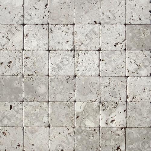 """Камень для пола """"Квадрат"""" доломит светло-серый """"мустанг"""" - 50х50х20 мм, галтованный, пиленый с 6 сторон"""