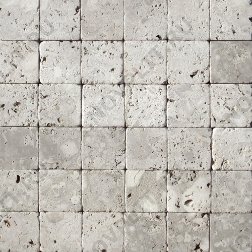 """Камень для пола """"Квадрат"""" доломит светло-серый """"мустанг"""" - 150х150х20 мм, галтованный, пиленый с 6 сторон"""