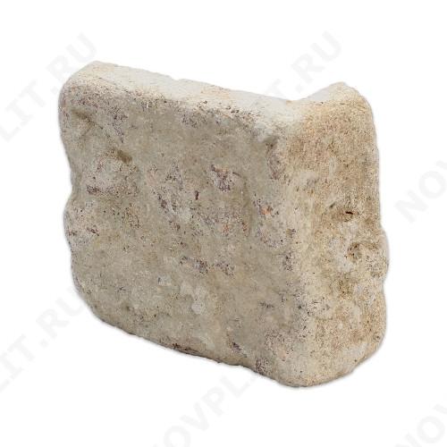 """Угловой камень """"Плитка"""" доломит кофейный - 100хПогонх20 мм, шуба, галтованный, пиленый с 5 сторон"""