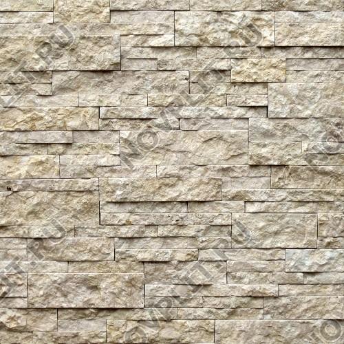 """Камень лапша """"Полоска"""" доломит серый с желтым - 40хПогон мм, шуба, пиленый с 5 сторон"""