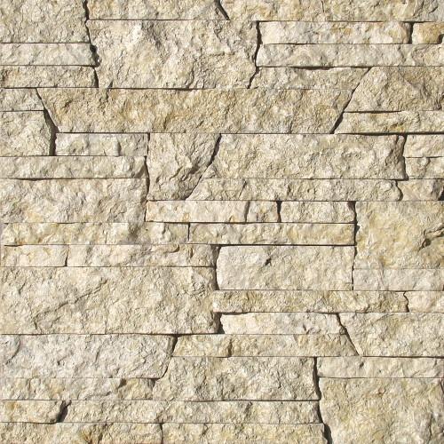 """Камень лапша """"Стрелка"""" доломит серый с желтым - 90хПогон мм, шуба, пиленый с 3 сторон"""