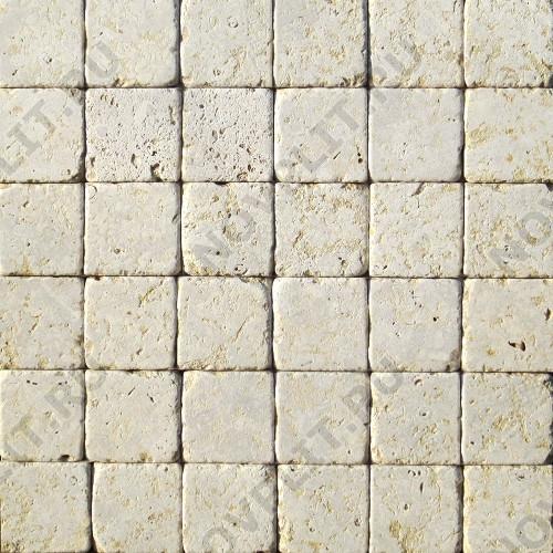 """Камень для пола """"Квадрат"""" доломит серый с желтым - 50х50х20 мм, галтованный, пиленый с 6 сторон"""