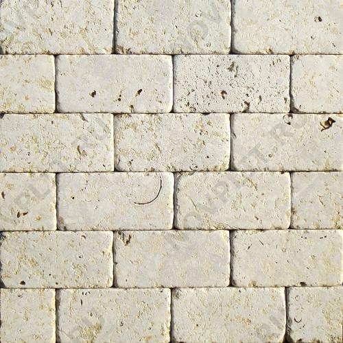 """Камень для пола """"Кирпич"""" доломит серый с желтым - 100х50х20 мм, галтованный, пиленый с 6 сторон"""