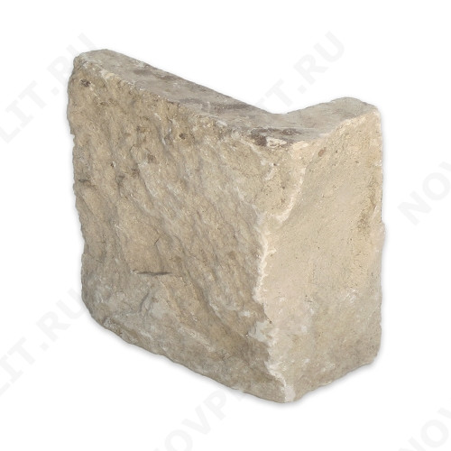 """Угловой камень """"Плитка"""" доломит серый с желтым - 100хПогон мм, шуба, пиленый с 5 сторон"""