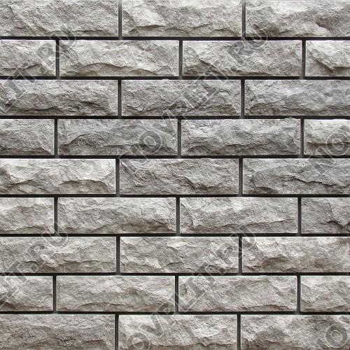 Камень под кирпич доломит серый - 60х200 мм, со сколом, пиленый с 5 сторон