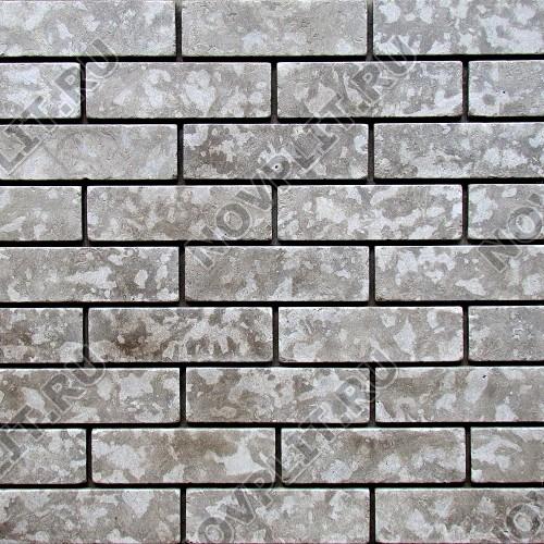 Камень под кирпич доломит серый - 60х200х15 мм, галтованный, пиленый с 6 сторон