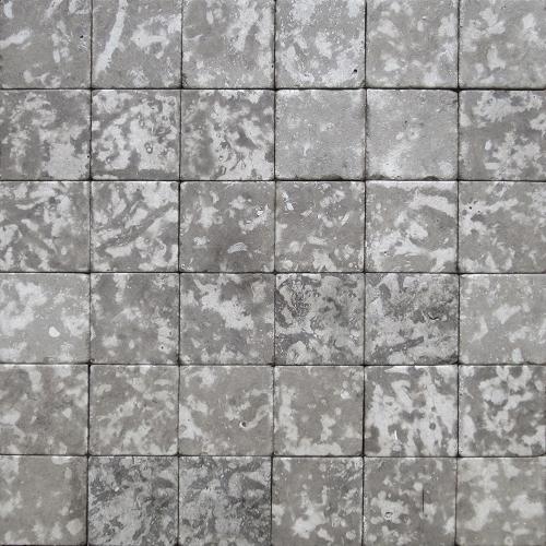 """Камень для пола """"Квадрат"""" доломит серый - 100х100х20 мм, галтованный, пиленый с 6 сторон"""