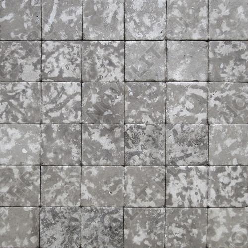 """Камень для пола """"Квадрат"""" доломит серый - 150х150х20 мм, галтованный, пиленый с 6 сторон"""