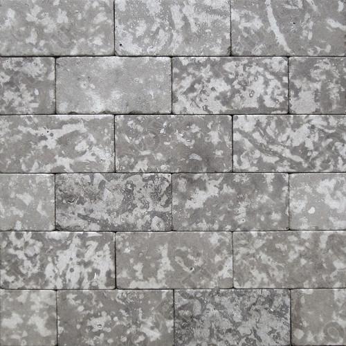 """Камень для пола """"Кирпич"""" доломит серый - 300х150х20 мм, галтованный, пиленый с 6 сторон"""