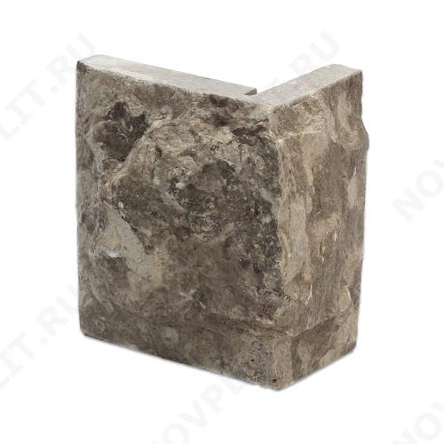 """Угловой камень """"Плитка"""" (Скала) »  Пиленый с 5 сторон, h-10 см (100 мм), L-Погон"""