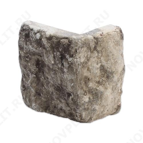 """Угловой камень """"Плитка"""" доломит серый - 100хПогонх20 мм, шуба, галтованный, пиленый с 5 сторон"""