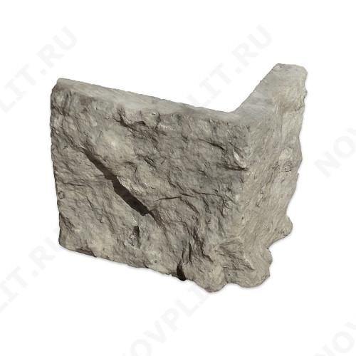 """Угловой камень """"Плитка"""" доломит серый - 200хПогон мм, шуба, пиленый с 5 сторон"""