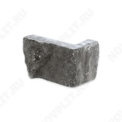 """Угловой камень """"Стрелки"""" (Шуба) »  Пиленый с 3 сторон, h-6 см (60 мм), L-Погон"""
