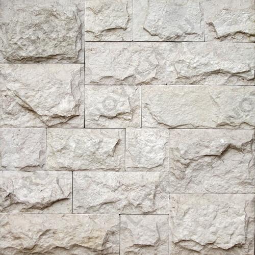 Римская кладка «Микс» доломит белый с бежевым - со сколом, пиленый с 5 сторон