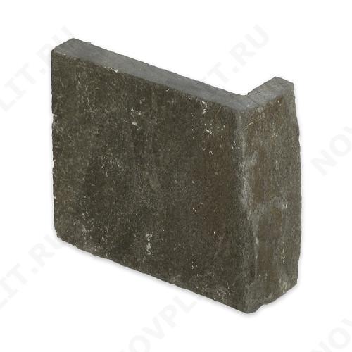 """Угловой камень """"Плитка"""" песчаник серо-зеленый - 200хПогон мм, шуба, пиленый с 5 сторон"""