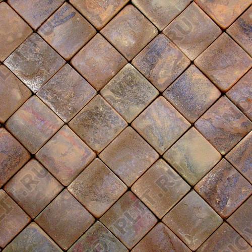 Брусчатка из камня (Шуба, галтованный) »  Пиленый с 4 сторон, s-3 см (30 мм), h-100х100 мм