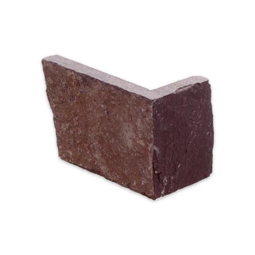 """Угловой камень """"Стрелки"""" лемезит бордовый - 90хПогон мм, шуба, пиленый с 3 сторон"""