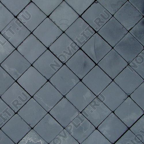 """Брусчатка """"Квадрат"""" шунгит тёмно-серый (чёрный) - 100х100х40 мм, галтованный, пиленый с 6 сторон"""