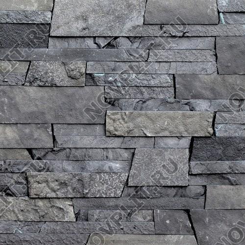 "Камень лапша ""Стрелка"" шунгит тёмно-серый (чёрный) - 90хПогон мм, шуба, пиленый с 3 сторон"