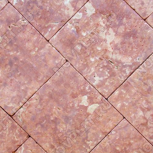 """Брусчатка """"Квадрат"""" доломит малиновый с розовым - 250х250х40 мм, галтованный, пиленый с 6 сторон"""