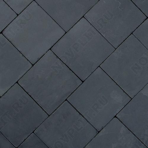 """Брусчатка """"Квадрат"""" шунгит тёмно-серый (чёрный) - 200х200х50 мм, галтованный, пиленый с 6 сторон"""