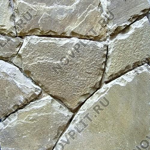 """Дикий камень """"Плитняк"""" песчаник серо-зеленый - 40 мм, шуба, необработанный"""